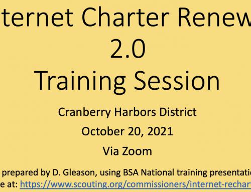 Cranberry Harbors Charter Renewal Training